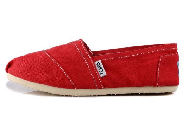 New Arrival Toms women shoes new red
