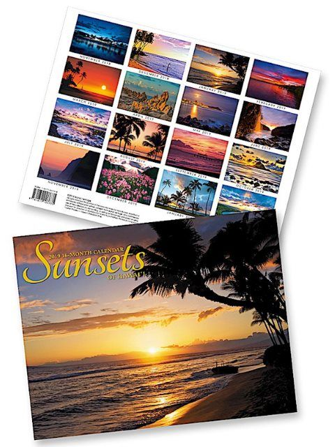 Sunsets of Hawaii 2019 Trade Hawaiian Calendar