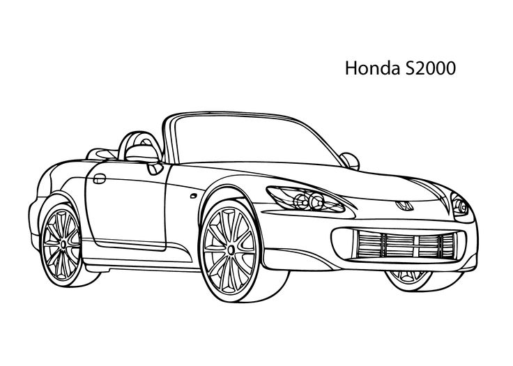 super car honda s2000 coloring page  cool car printable free