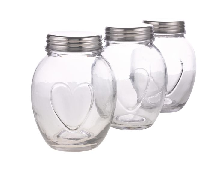 Clear jars, £5.99 each.
