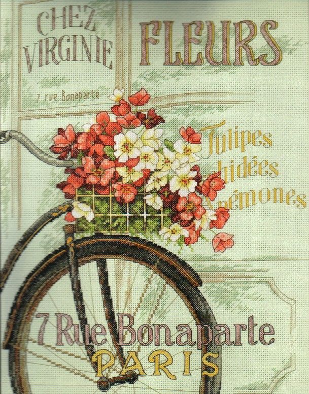 Cross Stitch Kit Parisian Bicycle From Dimensions