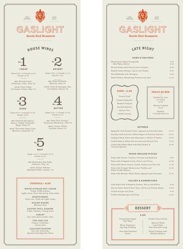 Gaslight menu
