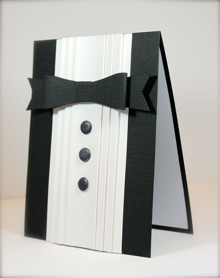 Tuxedo card simple