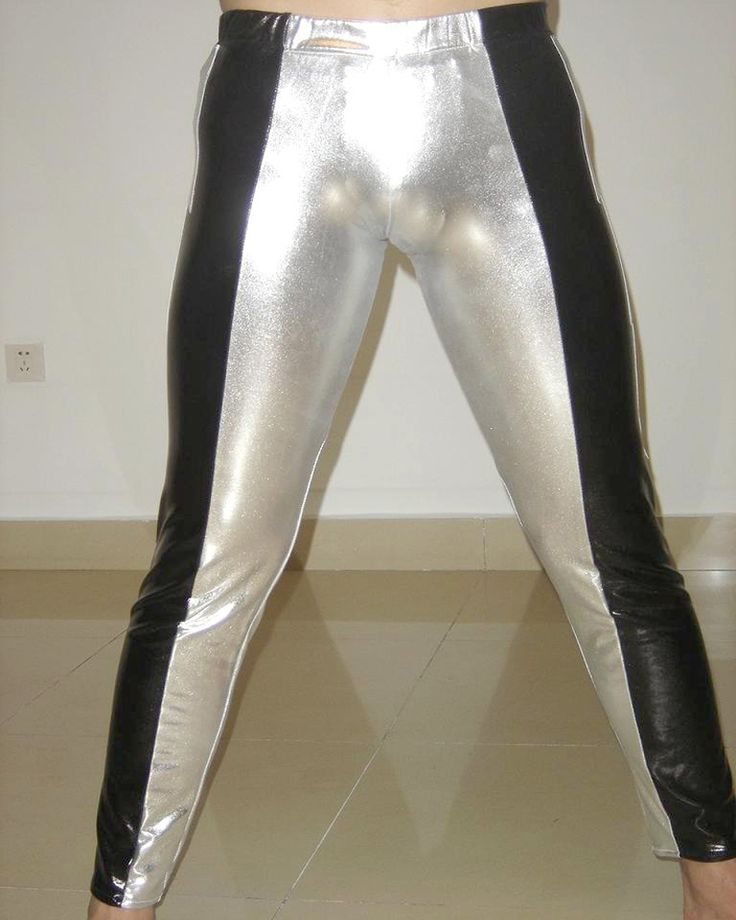 Custom Black Latex Rubber Silver Youth Wrestling Singlet Tights Pants For Sale H011