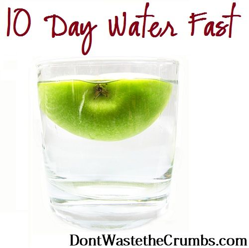 10 Day Water Fast - hmmm, interesting.  Looks like you really have to follow the plan.  Cannot just start eating at the end, have to introduce juice couple days, fruit couple days, steamed veggies, 7-14 days of reintroducing.  Have to follow directions.