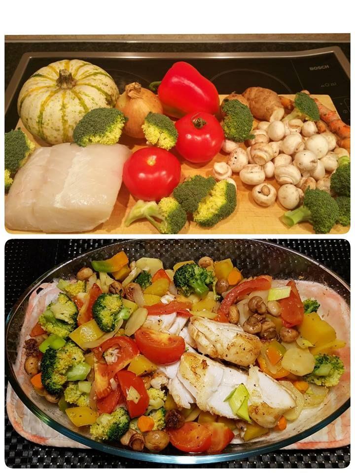 torskryg med grönsaker