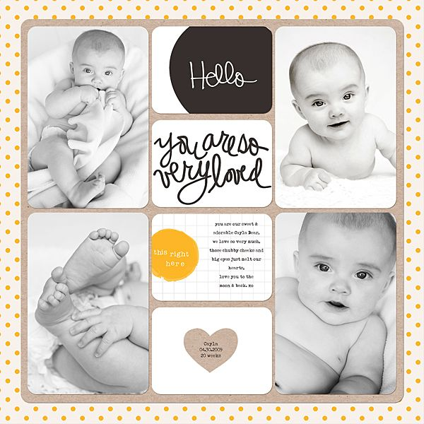 Sheri Mae Designs: hello | project life - midnight edition available at AC Digitals