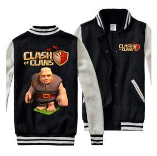 COC game Mens sweatshirts Clash of Clans Giant baseball jackets plus size
