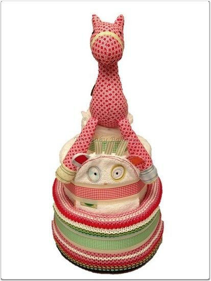 Beautiful 3 Tier Unisex Nappy Cake with Gingerbread range from Mamas and Papas by The Baby Bakery