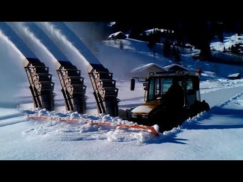 Awesome Machines Deep Snow Removal Snow Blowing Sweeping Snow Turf Cutting Snow - YouTube