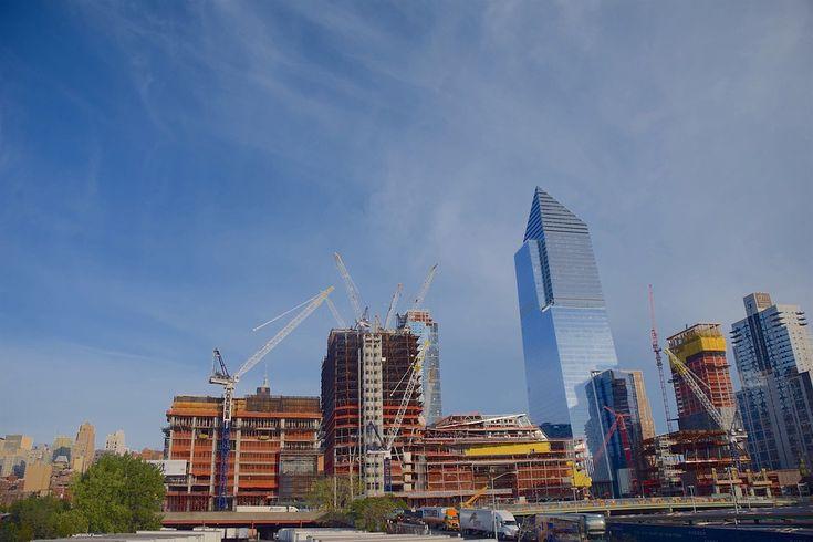 タワー, クレーン, ニューヨーク, マンハッタン, アーキテクチャ, スカイライン, 建設, 空, 鋼