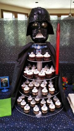 darth vader cupcake tower - Google Search