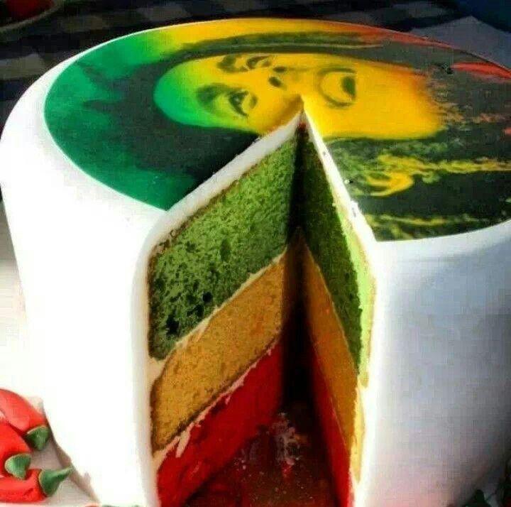 Bob Marley cake ❤ astig. Haha.