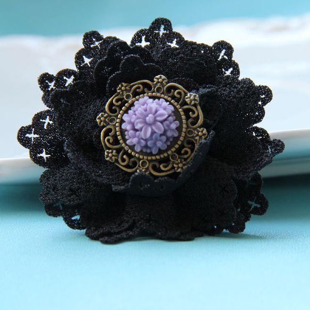 Jóias Gótico Handmade rose flor projeto original pin antigo broche de tecido fivela das mulheres do vintage acessórios (BR-25)