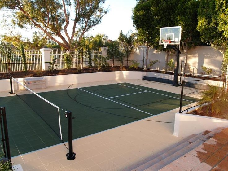 19 best sport court images on pinterest backyard for How wide is a basketball court