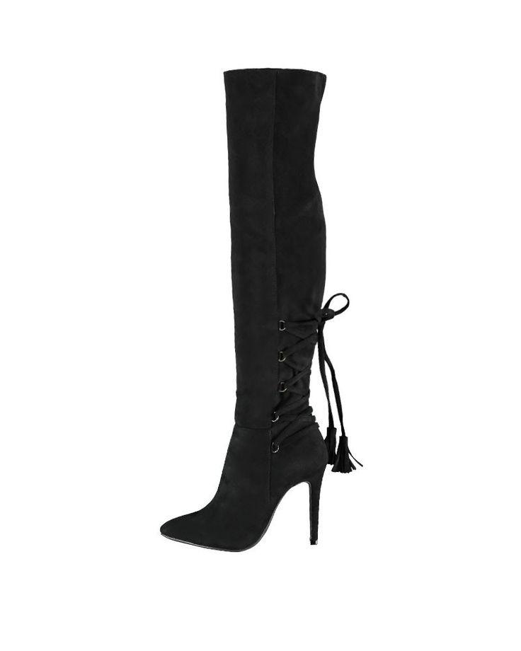 Fekete csizma Patong - Magassarkú - Magasszárú - Csizma - Női cipők  | Cipofalva.hu