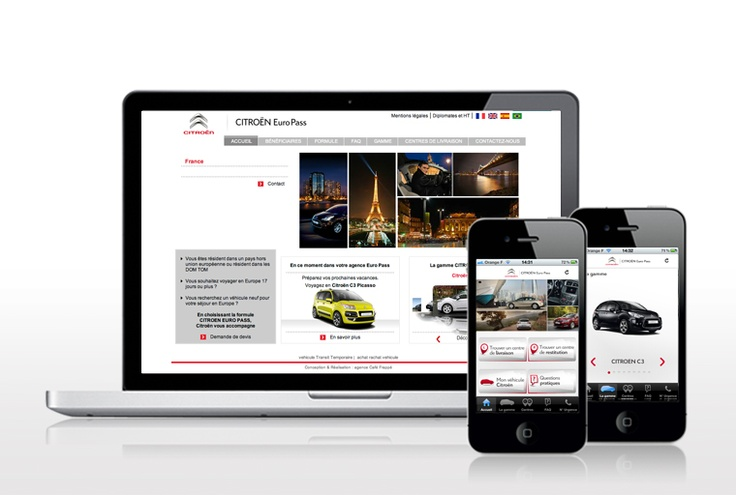 Application mobile - Citroën EuroPass
