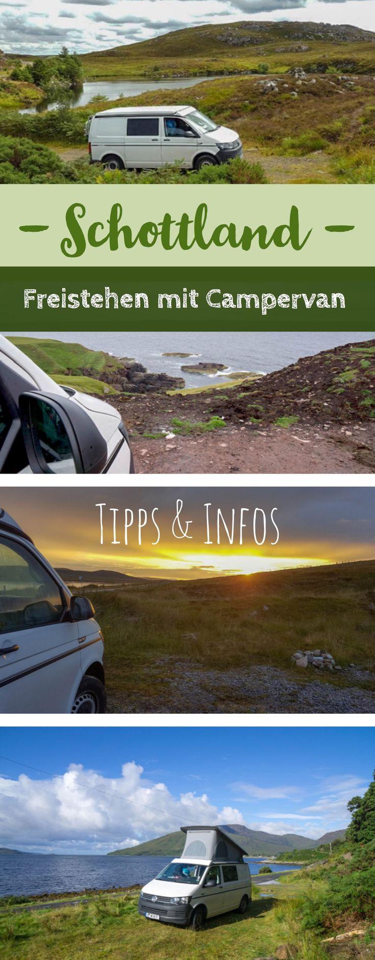 Hier findest du Tipps und Informationen zum Freistehen mit Campervan und Wohnmobil in Schottland sowie einen Überblick über unsere Übernachtungsplätze in den Highlands.