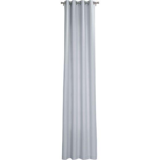 "master bedroom? basketweave silver grey curtain panel 48""x108"" | CB2"