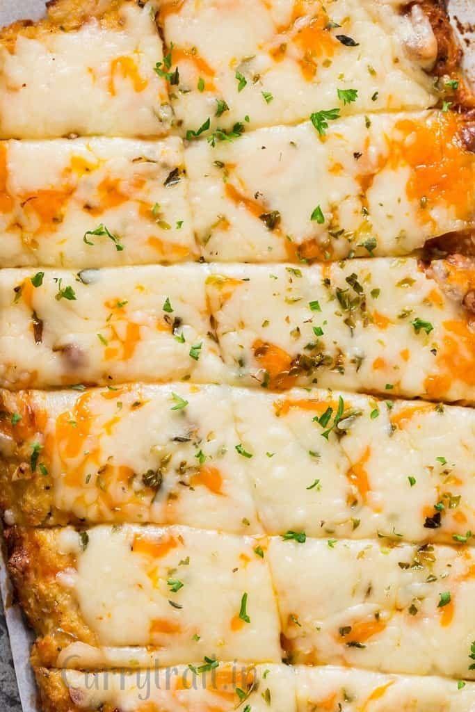 Cheesy Cauliflower Breadsticks Recipe Cheesy Cauliflower