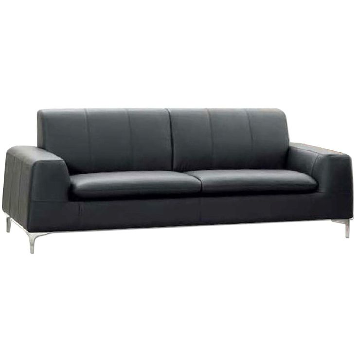 Aptdeco Black Contemporary Leather Couch Things To Buy