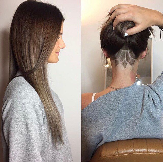 Undercut with a design