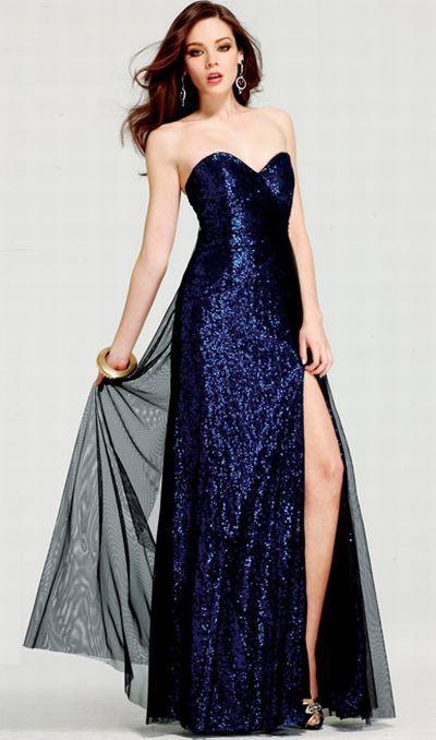 Image result for Dark blue dress