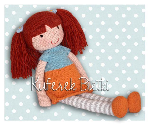 Caja - lalka na szydełku/ Gehäkelte Puppe - KuferekBietki - Lalki