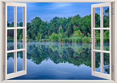 "Bomba-Deal 3D Nature Window Removable Art Decal Sticker Huge Mural Stickers Art 19.6"" x 27"" Bomba-Deal http://www.amazon.com/dp/B00OHYOWJU/ref=cm_sw_r_pi_dp_1iFpub0SFZX6J"