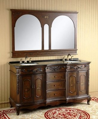 Image Gallery Website Double sink bathroom vanity with granite top and mirror Save big with