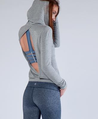 Not just a hoodie. It's a sexy peekaboo hoodie. Now who say's women who sweat aren't sexy?! - LegacyLooks.com