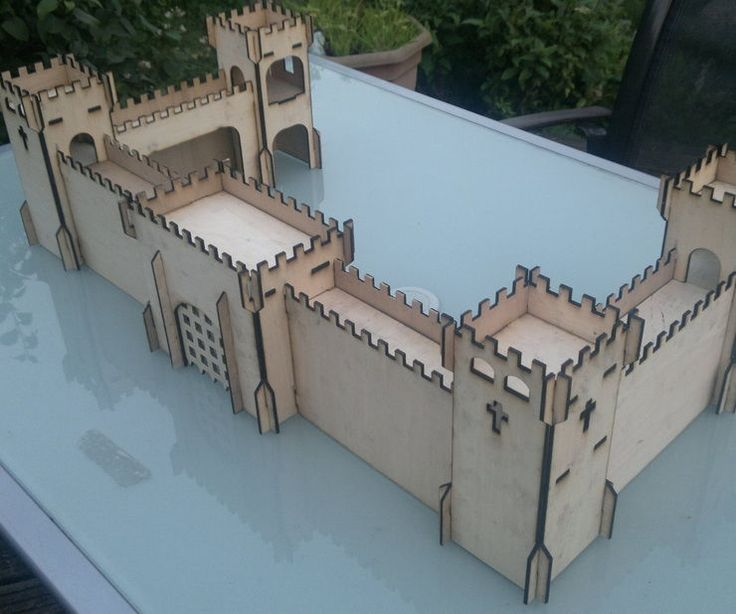 Using a desktop laser cutting machine, I made this wooden castle from 3mm plywood.The machines used for this was a LS3020 Desktop Laser Engraver. The shapes and designs were created using Autocad (and exported as DXF files for importing into the laser software). The material was standard 3mm plywood, bought in a 8x4 sheet from B&Q for about £15