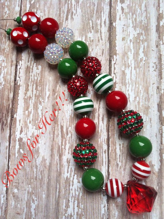 Christmas Chunky Bead Necklace