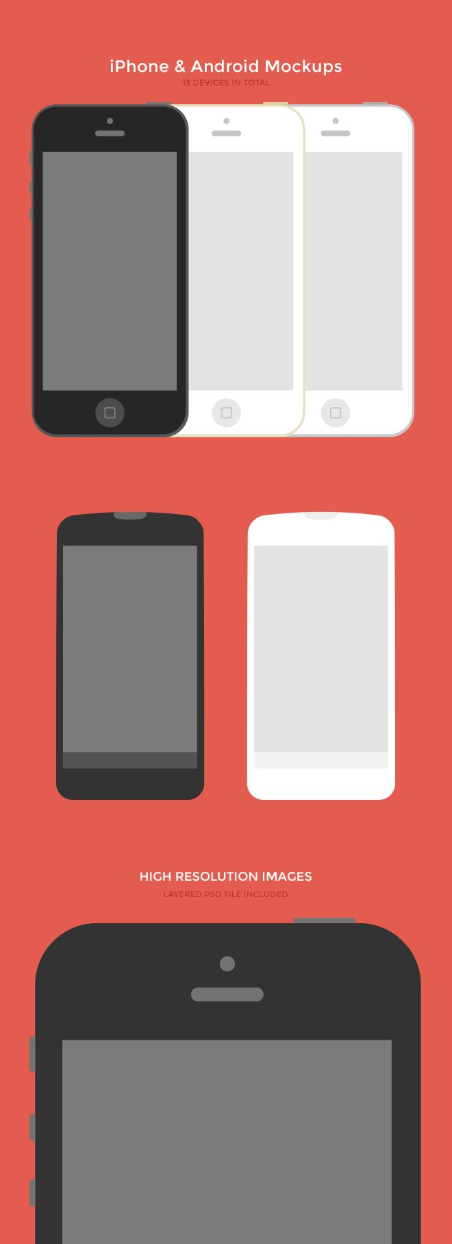 design deck | iPhone & Android Mockups (PSD)