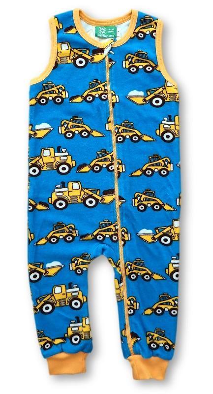 Naperonuttu terry overalls - Excavator Retro Baby Clothes - Baby Boy clothes - Danish Baby Clothes - Smafolk - Toddler clothing - Baby Clothing - Baby clothes Online