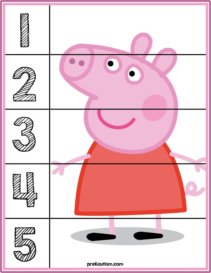 Peppa Pig #1-5 Counting Puzzle - Activities For Toddlers With Autism