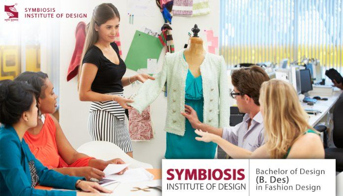 Bachelor of Design (B-Des) in Fashion & Textile Design offered by Symbiosis Institute of Design . The undergraduate 4  Years, Full Time, Under Graduate Degree and is been approved by AICTE. The department is established with an aim to provide services to students, so that they