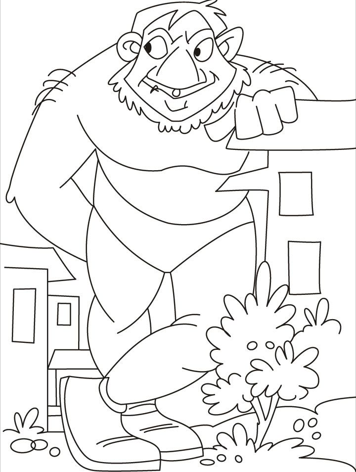 Coloring The Giant Coloring Page Download Free P With Terrific