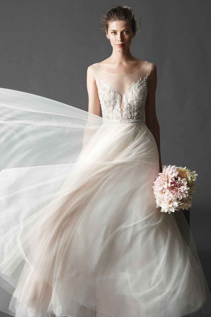 10 best Blushing Bridal Gowns images on Pinterest | Homecoming ...