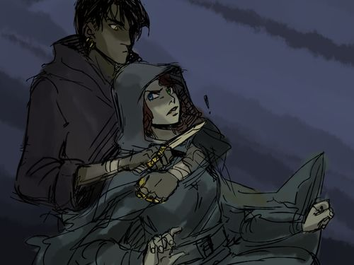 Po and Katsas first meeting. I finished Graceling today, it was a really fun read ^.^