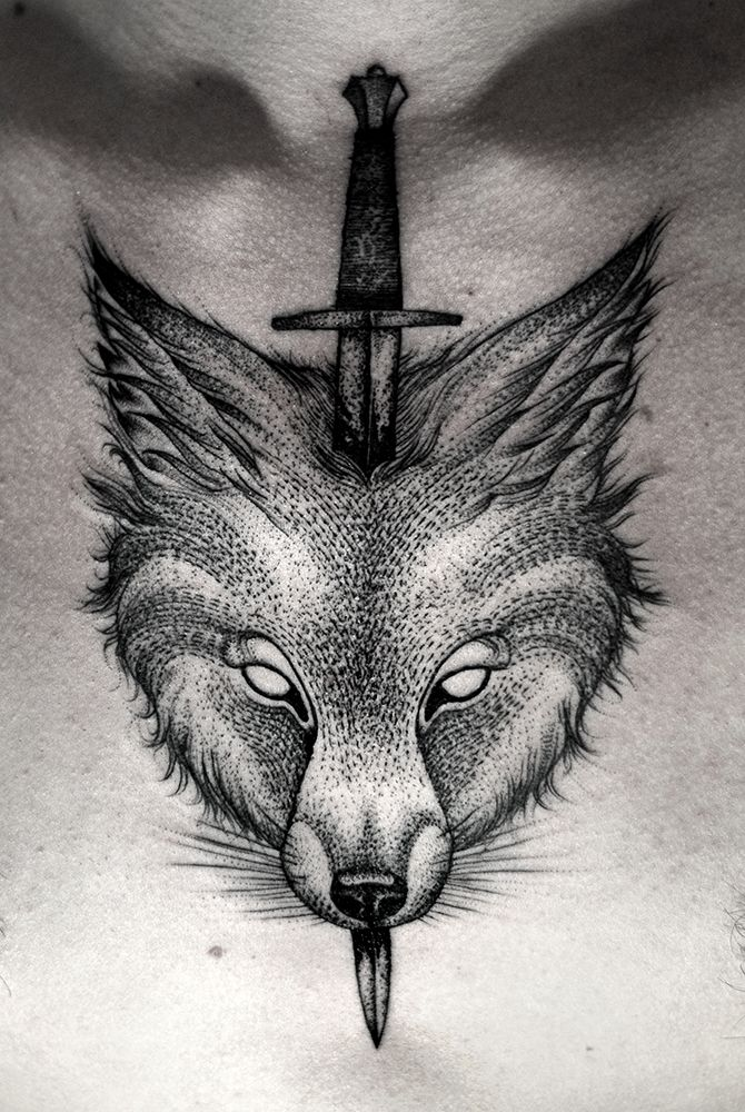 Kamil Czapiga: Tattoo 2014 - Wolf/Sword