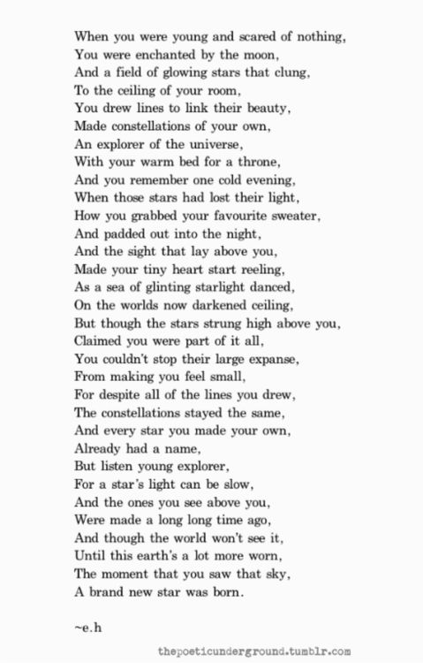Erin Hanson poem about growing up (goes with After Watching Peter Pan Again)