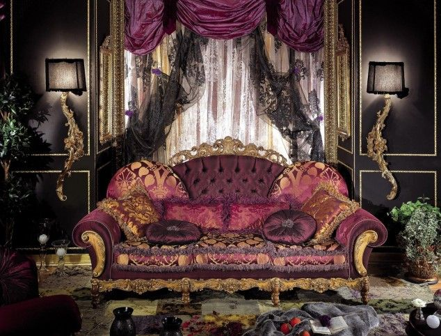 Ornate, over the top boho! purple, pink, black in bohemian style-Luxury Italian Furniture