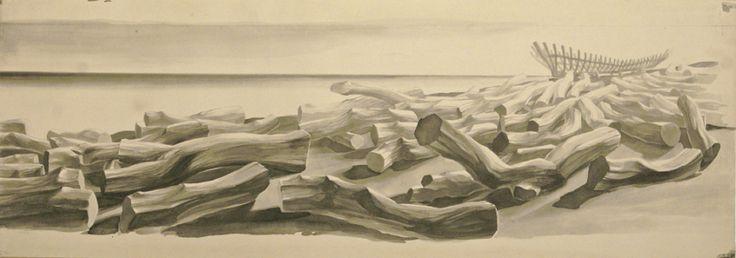 duilio cambellotti | Duilio Cambellotti La Legnara, 1945 Matita su carta