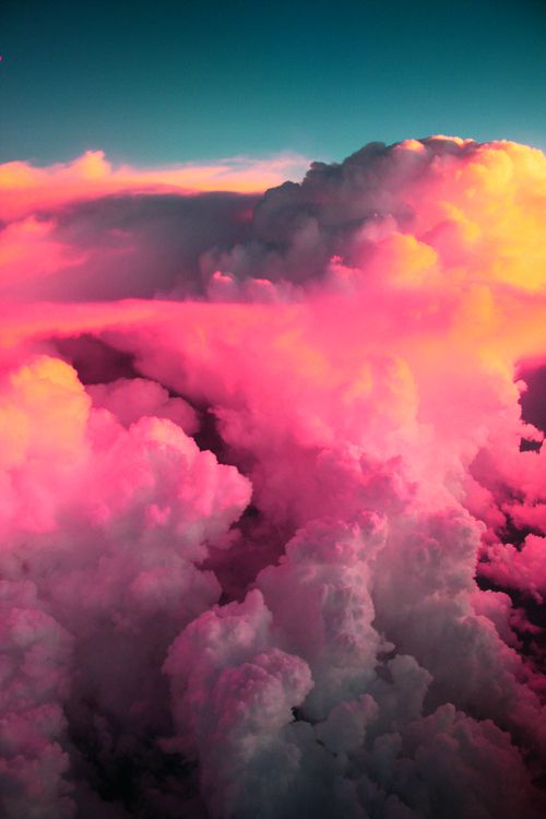 ✿ڿڰۣ pink clouds, the view from above  #nature #photography #clouds