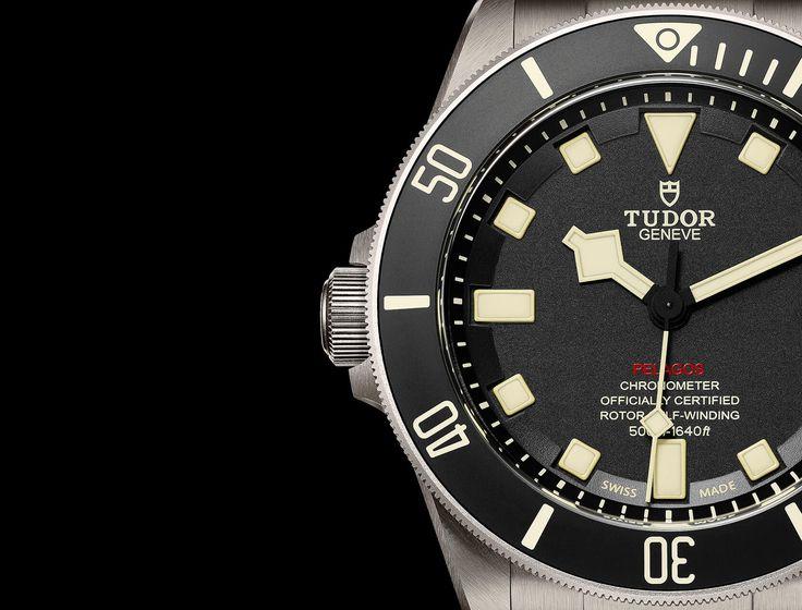 Entdecken Sie die Tudor Pelagos, die ultimative mechanische Taucheruhr, wasserdicht bis 500 Meter, auf der offiziellen Webseite von Tudor.