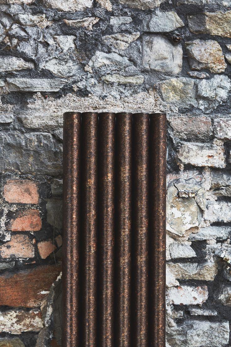 stunning 'antique' sublimation print finish on Eskimo's column radiators RON.