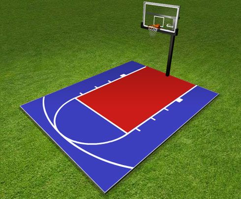 Dunkstar diy home game courts monthly specials backyard for Homemade indoor basketball court