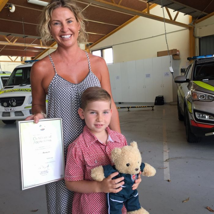 Sunshine Coast boy Hutch Bevacqua wins an award for his bravery after he took over a triple-0 call when his mother collapsed.