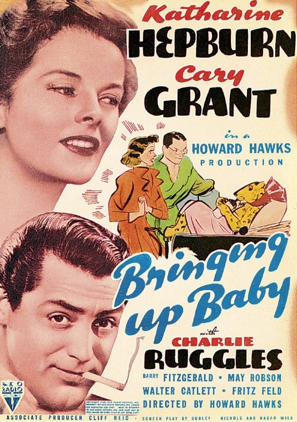 Bringing Up Baby- Katherine Hepburn's character is a hoot. These two have great chemistry- the dialogue is rapid fire between them.